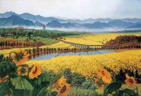 《战地黄花分外香》:突破油画写实 回归东方情趣