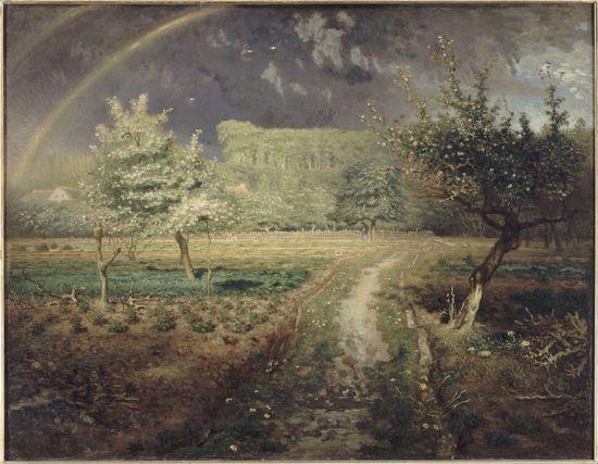 米勒的油画《春》赏析