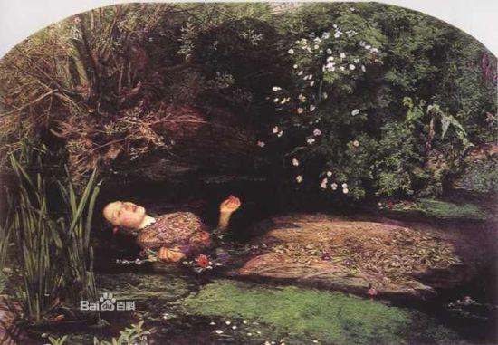 米莱斯的油画《奥菲丽亚》赏析