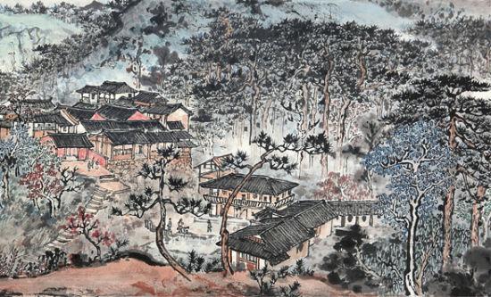 记应野平先生的山水画:晴云流岚苍润浑厚
