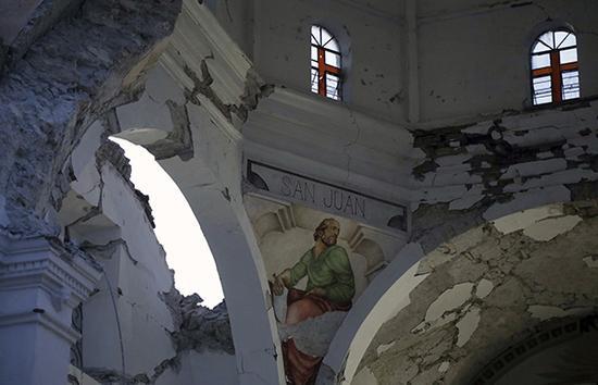 墨西哥地震致文物古迹被毁 墨专家:望中国帮助修复