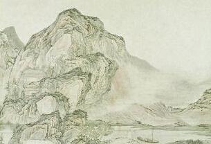 《云山深处听琴图》:山水画境古琴意象