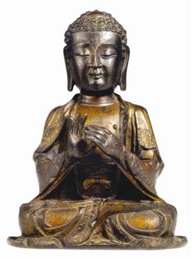 鉴赏:清代释迦牟尼铜铸像