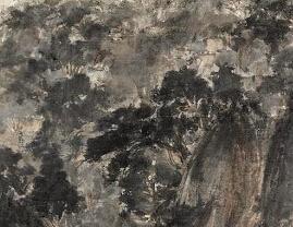 傅抱石在抗日激情中创作《巴山夜雨》
