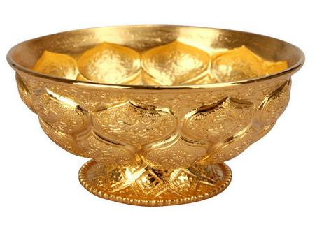 唐代金银器:鸳鸯莲瓣纹金碗赏析