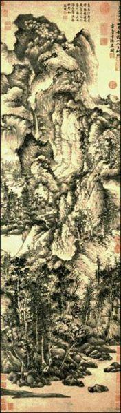 王蒙的《青卞隐居图》赏析