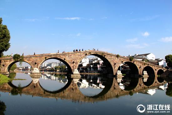 [杭州]塘栖广济桥——古运河上仅存的一座七孔石拱桥