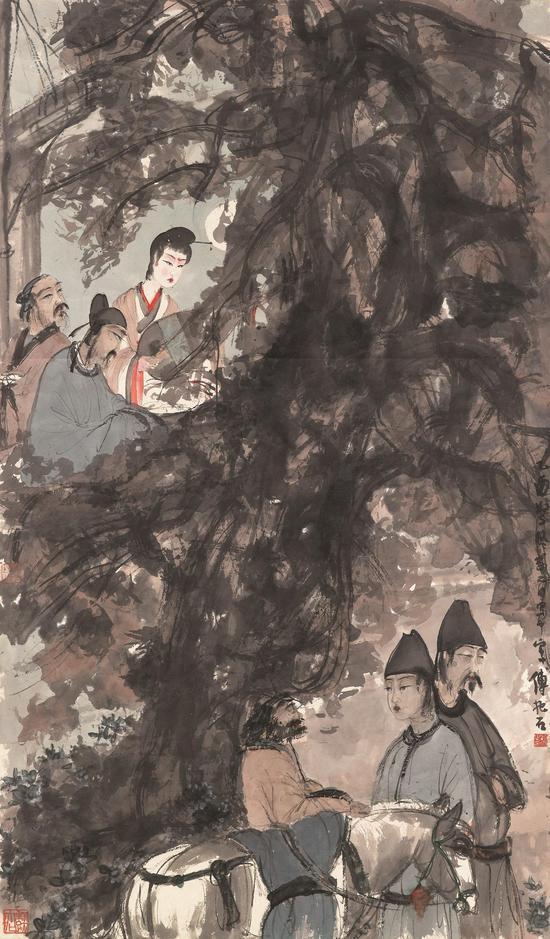 孔祥熙家族收藏的傅抱石《琵琶行》有望创出天价