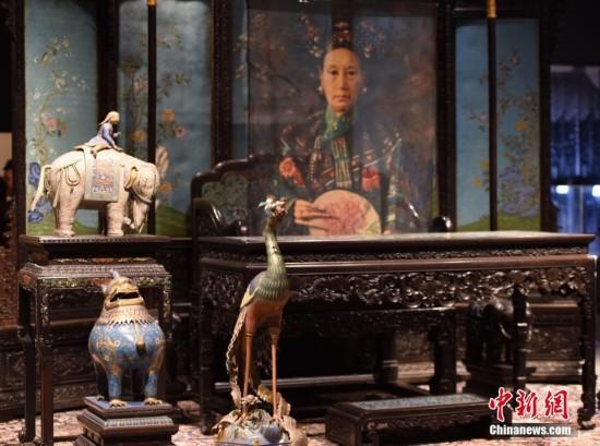 颐和园馆藏文物首次登陆美国 慈禧太后寿礼亮相