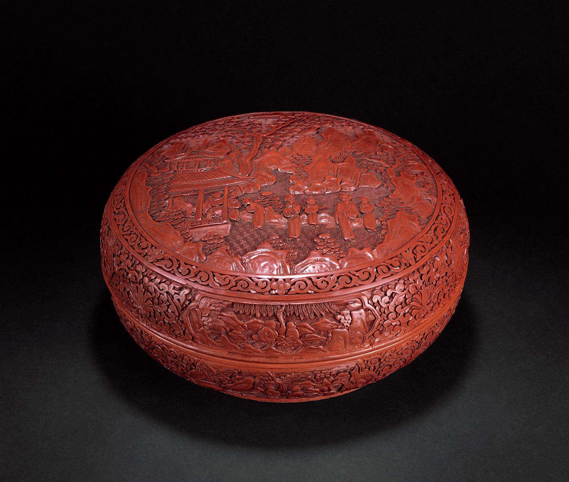 清朝不同年代龙纹漆器