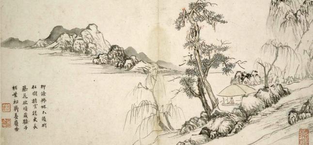 从树法看山水画的人文寓意和笔墨程式