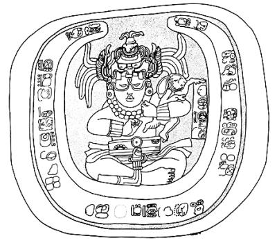 博南帕克石雕上的月神和兔。图片由作者提供-图片版权归原作者所有