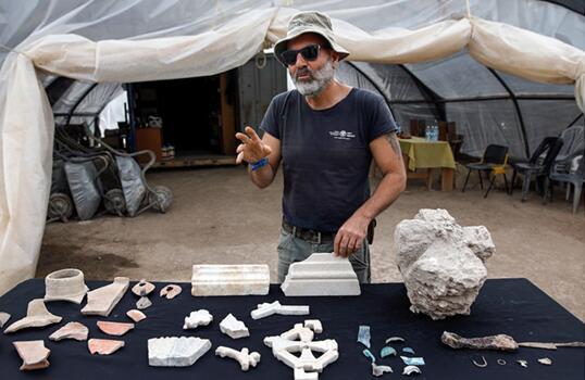以色列文物管理局在工地发现拜占庭时代修道院遗址