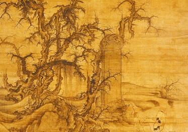 清旷的寒林——李成《读碑窠石图》赏析