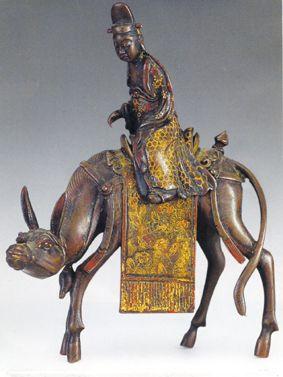 精美绝伦的明代铜仙人骑驴香熏