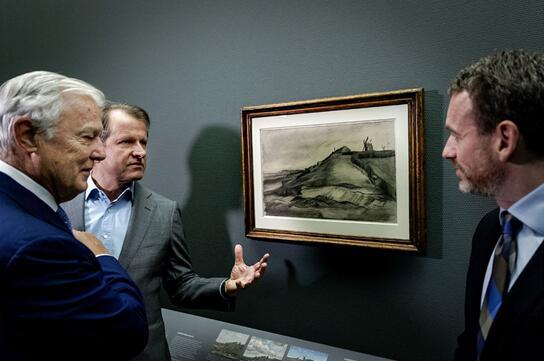 罕见的艺术大师梵高素描画杰作在阿姆斯特丹上展