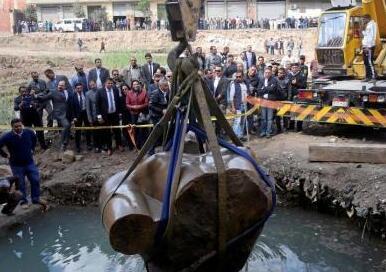 83吨古埃及雕像将入住400米外新博物馆
