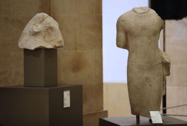 黎巴嫩展出5件被追回文物