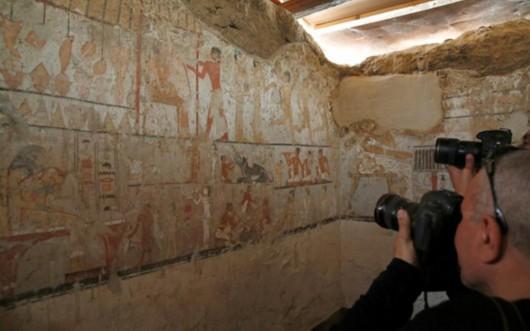 """埃及考古学家发现""""古墓丽影"""" 政府希冀提振旅游业"""