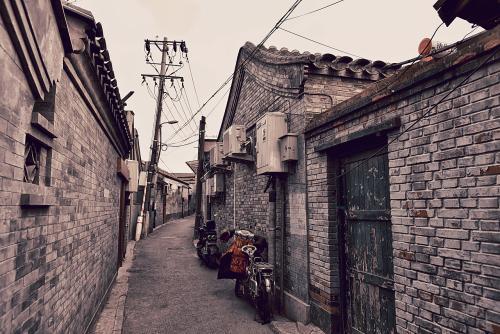 民国北京街道手绘