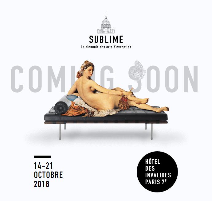 收藏界重磅双年展SUBLIME 2018将于10月在巴黎开幕