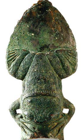 西汉时期蛙饰铜矛