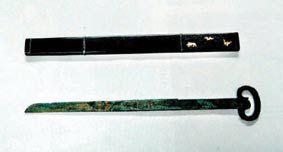 西汉漆鞘青铜书刀