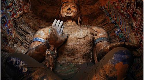 云冈石窟新发现一尊隐藏造像 距今约一千五百余年