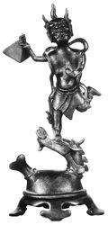 元魁星踢斗铜像