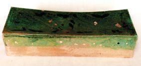 宋代磁州窑绿釉划花瓷枕