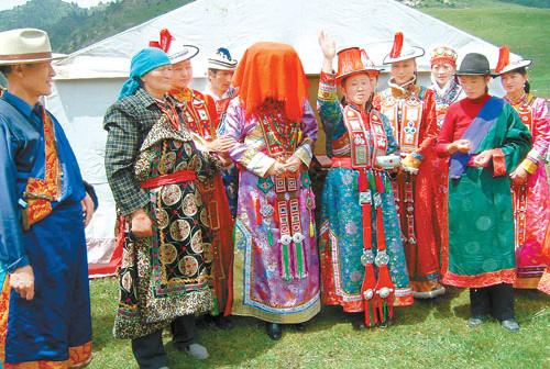 裕固族的民族风俗
