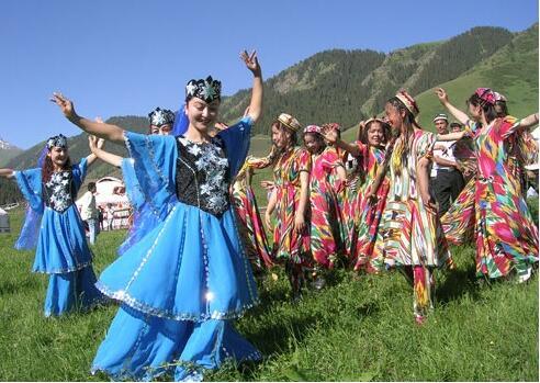 新疆喀什市的民族风情