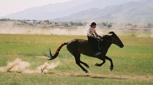 哈萨克的降生骑马习俗