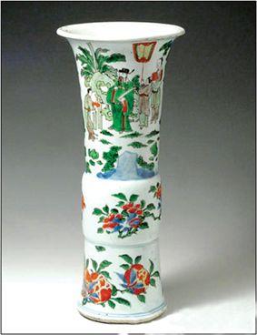 康熙仿青铜觚瓷瓶