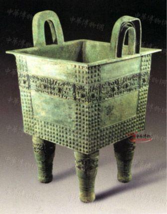 商早期兽面纹方鼎