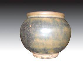 建窑黑釉陶瓷罐