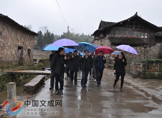 浙江省农办调研金东区历史文化村落保护利用工作
