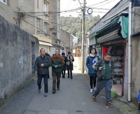 浙江省市文物专家对定海历史街区进行调查