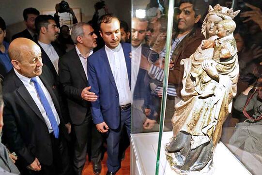 紧张局势下的巴黎卢浮宫境外展览获得伊朗民众热捧