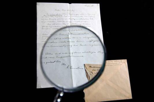 爱因斯坦珍贵信件在耶路撒冷以10万美元的高价拍出