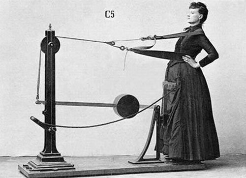 百年前的健身器材