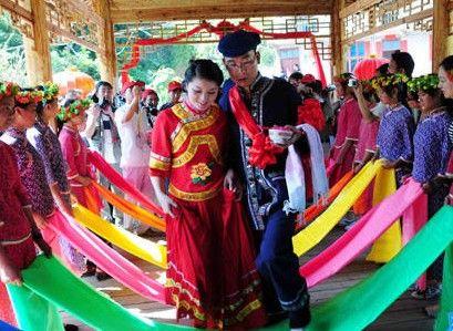 毛南族婚姻的程序与礼节