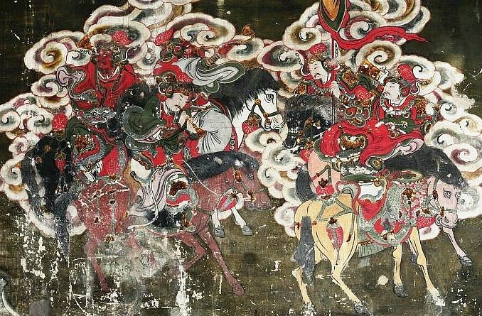汾阳圣母庙壁画-迎驾图