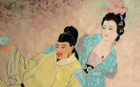 """唐玄宗和杨贵妃格调不俗:浴袍为""""情侣装"""""""