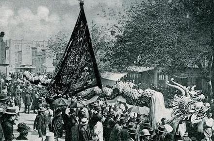 1892年的旧金山唐人街华人真实生活照