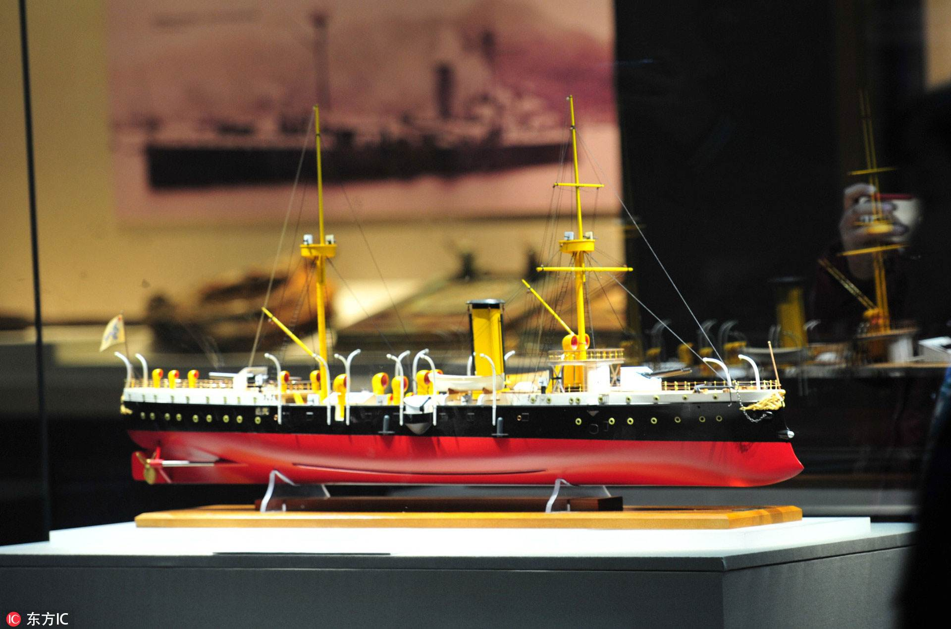 致远舰出水文物首次公开展出