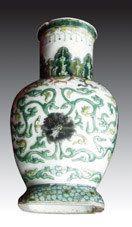 至今极为罕见珍稀的康熙素三彩瓷