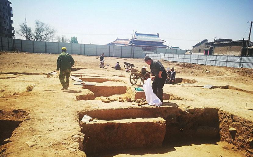 山西大同发现北魏寺庙遗址