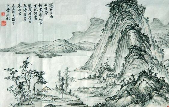 古代山水画:风水与龙脉虚实相生
