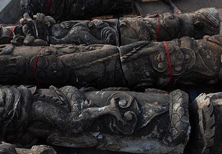 依兰县打捞盘龙石柱已增至13段 专家:或为乾隆年间文物